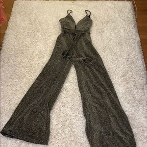 Black & gold sparkle jumpsuit